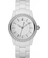 Buy DKNY Ladies Crystals White Watch online