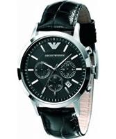 Buy Emporio Armani Mens Black Renato Chronograph Watch online