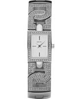 Buy DKNY Ladies Silver Stone Watch online
