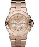 Buy Michael Kors Ladies Jet Set Crystals Rose Gold Dial And Bracelet Watch online
