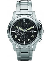 Buy Fossil Mens Black Dial Ss Bracelet Watch online