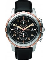 Buy Fossil Mens Black Dean Chronograph Watch online