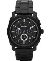 Buy Fossil Mens Machine Black Chronograph Watch online