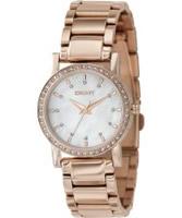 Buy DKNY Ladies Rose Gold Watch online