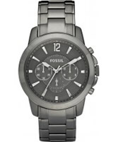 Buy Fossil Mens Grey Grant Chronograph Watch online