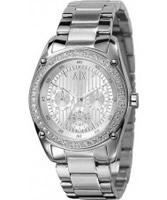 Buy Armani Exchange Ladies White Silver Cristina Active Watch online