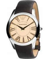Buy Emporio Armani Mens Champagne Brown Super Slim Valente Watch online