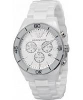 Buy Emporio Armani Mens White Ceramica Tazio Chronograph Watch online