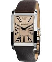 Buy Emporio Armani Mens Super Slim Marco Gold Brown Watch online