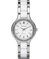 Buy DKNY Ladies Ceramix Two Tone Watch online