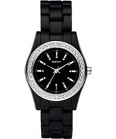 Buy DKNY Ladies Plastics Stone Set Black Watch online