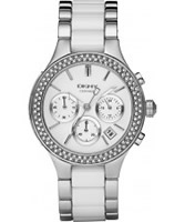 Buy DKNY Ladies Ceramix Chronograph Two Tone Watch online