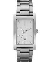 Buy DKNY Mens Silver Steel Watch online
