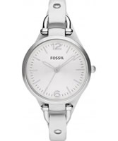 Buy Fossil Ladies White Georgia Watch online