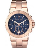 Buy Michael Kors Ladies Chronograph Rose Gold Watch online