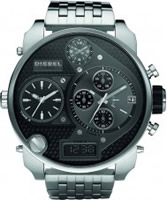 Buy Diesel Mens Big Daddy Chrono Black Watch online