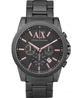 Buy Armani Exchange Mens Grey IP Banks Chronograph Smart Watch online