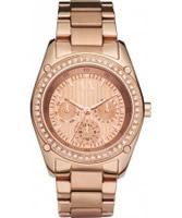 Buy Armani Exchange Ladies Rose Gold Cristina Active Watch online