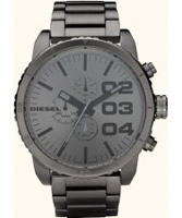 Buy Diesel Mens Franchise All Gunmetal Steel Watch online
