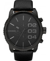 Buy Diesel Mens Large Franchise Brushed Black Watch online