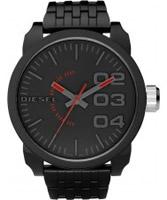 Buy Diesel Mens Franchise Black Watch online