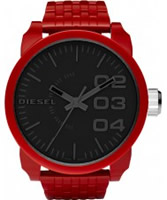Buy Diesel Mens Franchise Black Red Watch online