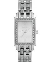 Buy DKNY Ladies Essentials and Glitz Silver Watch online