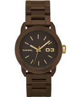 Buy Diesel Ladies Franchise Brown Acrylic Watch online