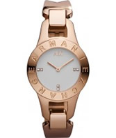 Buy Armani Exchange Ladies White Rose Gold Lilly Smart Watch online