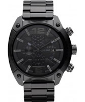 Buy Diesel Mens Chronograph Black IP Watch online