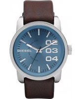 Buy Diesel Mens Franchise Blue Brown Watch online