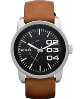 Buy Diesel Mens Franchise Black Tan Watch online