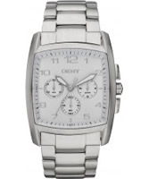 Buy DKNY Mens Casual Chronograph Silver Watch online