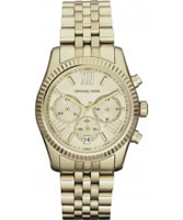 Buy Michael Kors Ladies Gold Plated Chronograph Watch online