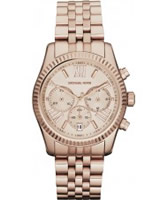 Buy Michael Kors Ladies Rose Gold Chronograph Watch online
