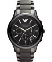 Buy Emporio Armani Mens Black Ceramica Renato Watch online