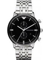 Buy Emporio Armani Mens Black Steel Gianni Classic Watch online