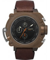 Buy Diesel Mens Chronograph Brown Watch online