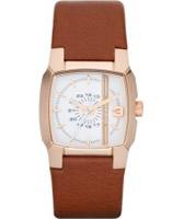 Buy Diesel Ladies NSBB White Brown Watch online