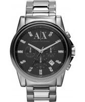 Buy Armani Exchange Mens Black Silver Banks Chronograph Smart Watch online