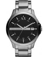 Buy Armani Exchange Mens Black Silver Whitman Smart Watch online