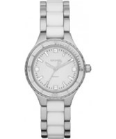 Buy DKNY Ladies Ceramix Silver White Watch online