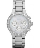 Buy DKNY Ladies Silver Tone Ceramix Chronograph Watch online