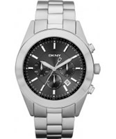 Buy DKNY Mens Dress Chronograph Black Silver Watch online