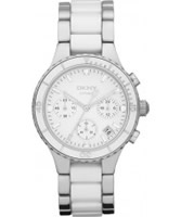Buy DKNY Ladies Two Tone Ceramix Chronograph Watch online