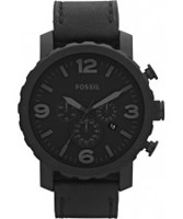 Buy Fossil Mens Nate Black Chronograph Watch online