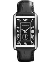 Buy Emporio Armani Mens Black Marco Watch online