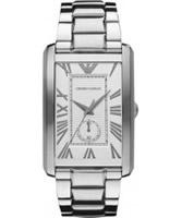 Buy Emporio Armani Mens Grey Silver Marco Watch online
