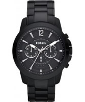 Buy Fossil Mens White and Black Grant Chronograph Watch online