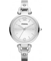 Buy Fossil Ladies Silver Georgia Watch online